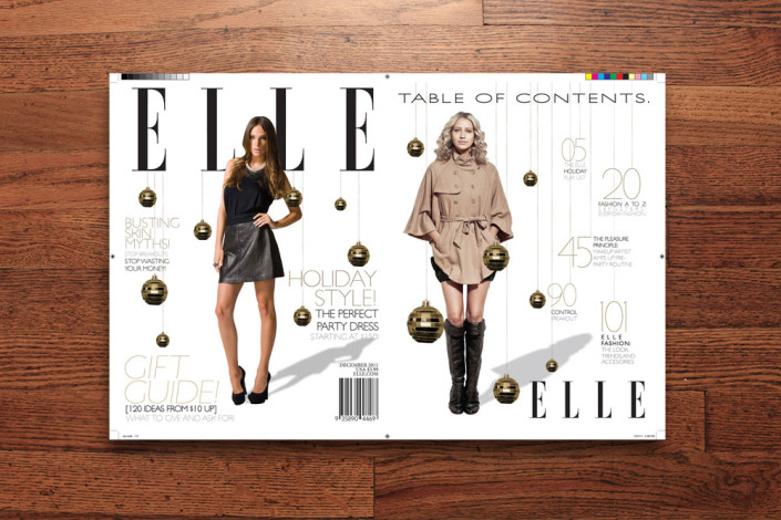 Elle magazine mock up